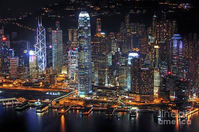 Hong Kong Photograph - Hong Kong's Skyline At Night by Lars Ruecker