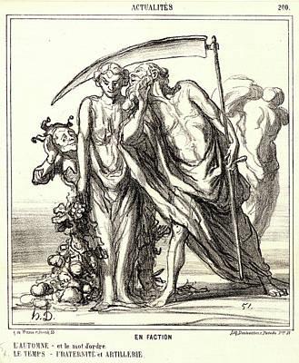Honoré Daumier French, 1808 - 1879. En Faction Print by Litz Collection