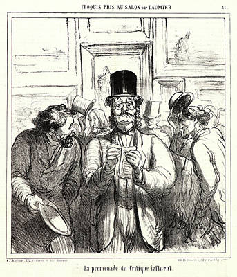 Beauty Salon Drawing - Honoré Daumier French, 1808 - 1879. La Promenade Du by Litz Collection
