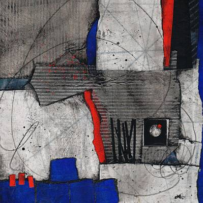 Blue Abstract Mixed Media - Honor Self by Laura  Lein-Svencner