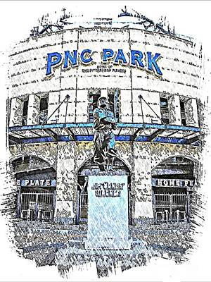 Honus Wagner Statue At Pnc Park Print by Spencer McKain