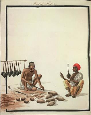 Hookah Photograph - Hookah Maker by British Library