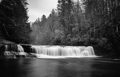 Long Exposure Photograph - Hooker Falls In December by Ben Shields