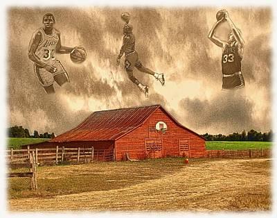 Indiana Scenes Digital Art - Hoop Dreams by Charles Ott