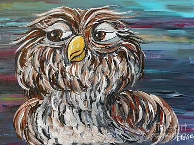 Living Room Art Painting - Hoo's Your Daddy by Eloise Schneider