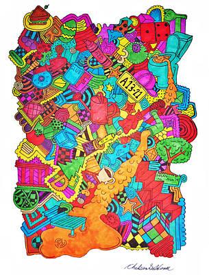 Different Stuff Drawing - Hooya by Chelsea Geldean