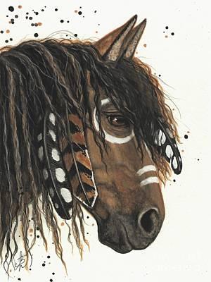Fine American Art Painting - Hopa Majestic Mustang Series 47 by AmyLyn Bihrle