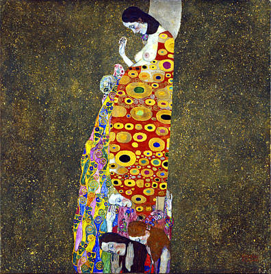 Hope 2 Print by Gustive Klimt