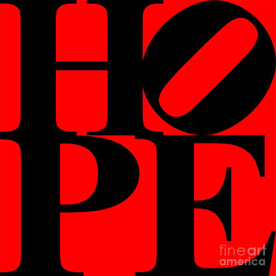 Hope 20130710 Black Red Print by Wingsdomain Art and Photography