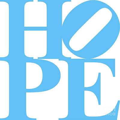 Hope 20130710 Blue White Print by Wingsdomain Art and Photography
