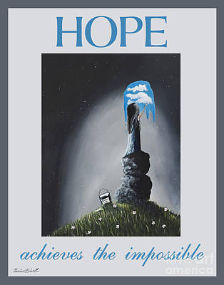 Concern Painting - Hope Achieves The Impossible By Shawna Erback by Shawna Erback