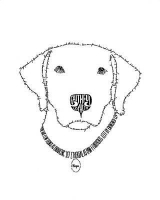 Animal Shelter Drawing - Hope Is More Than Words by Bethany Martin