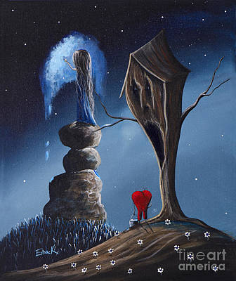 Utherworlds Painting - Hope Still Lives Here By Shawna Erback by Shawna Erback