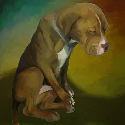 Animal Shelter Painting - Hopeless by GCannon