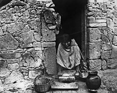 Grind House Photograph - Hopi Grinding Grain, 1895 by Granger