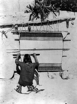 Handloom Photograph - Hopi Weaving, 1879 by Granger