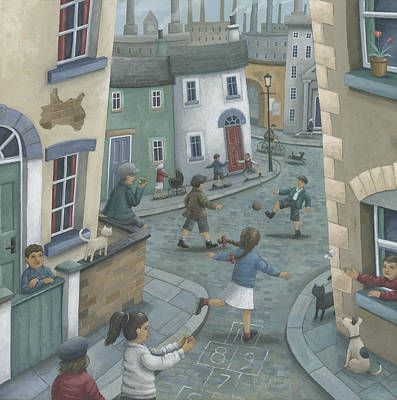 Hill Town Photograph - Hopscotch Down The Hill by Peter Adderley