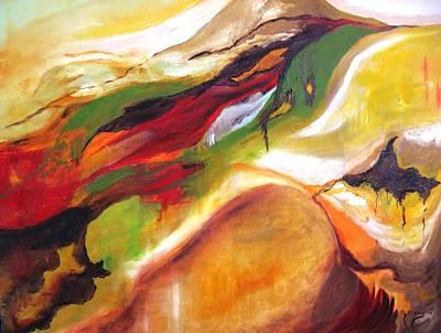Surrealistic Painting - Horizon by Doris Cohen