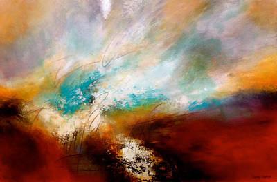 Abstract Painting - Horizonte by Thelma Zambrano