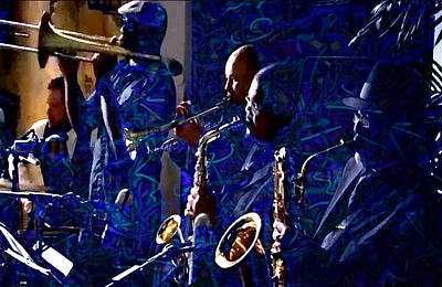 Saxaphones Digital Art - Horn Section In The Blues Band by Digital Creations