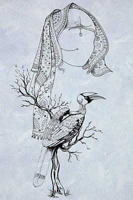 Hornbill Digital Art - Hornbill And The Bride by Arun Sivaprasad