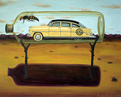 Hornet Painting - Hornets In A Bottle by Leah Saulnier The Painting Maniac