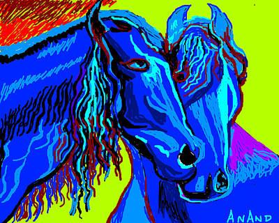 Horse-7 Print by Anand Swaroop Manchiraju
