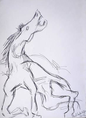 Horse ...after Picasso Print by Paul Sutcliffe