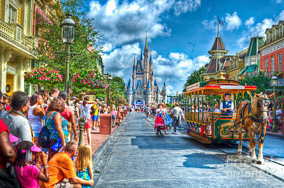 Magic Kingdom Photograph - Horse And Carriage by Ryan Crane