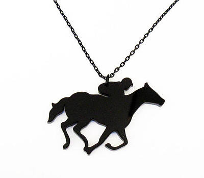 Perspex Jewelry Jewelry - Horse And Jockey Pendant Necklace by Rony Bank