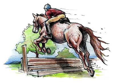 Horse And Rider Original by John Ashton Golden