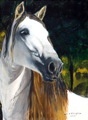 horse - Angel Print by Go Van Kampen