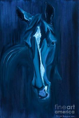 horse - Apple indigo Original by Go Van Kampen