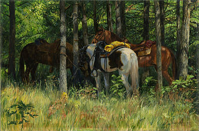 Rest Stop - Big Creek Print by Don  Langeneckert
