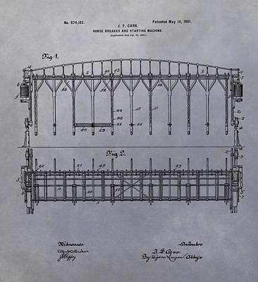 Horse Breaker Patent Print by Dan Sproul