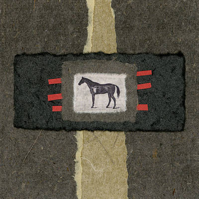 Torn Photograph - Horse Collage by Carol Leigh