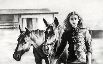 Horse Farm Print by Natasha Denger