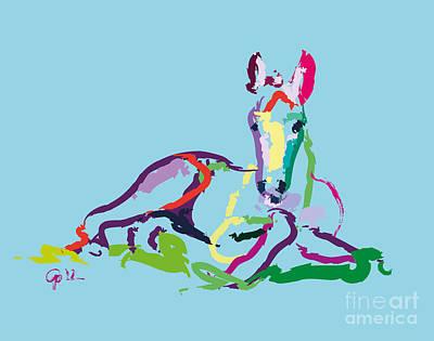 Animal Digital Art - Horse - Foal - Sweetie by Go Van Kampen