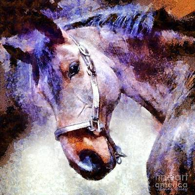 Mount Rushmore Mixed Media - Horse I Will Follow You by Janine Riley