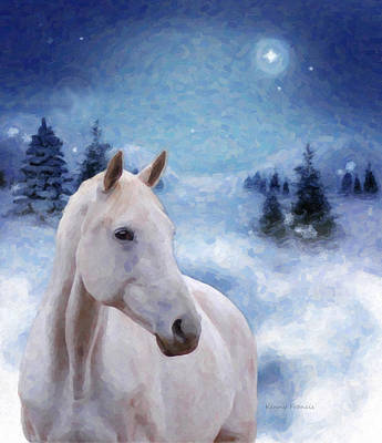 Horse In Winter Print by Kenny Francis