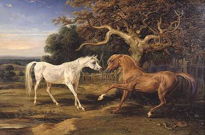 Present Painting - Horse Love by James Ward