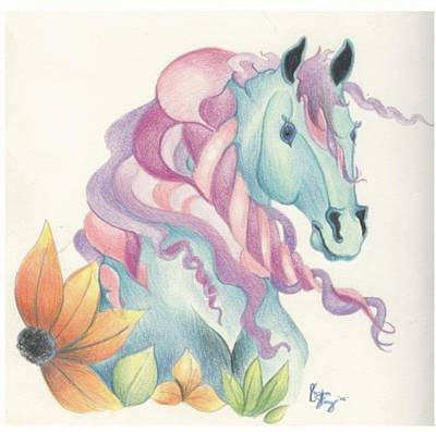 Horse Of A Different Colour Print by Kirsten Slaney
