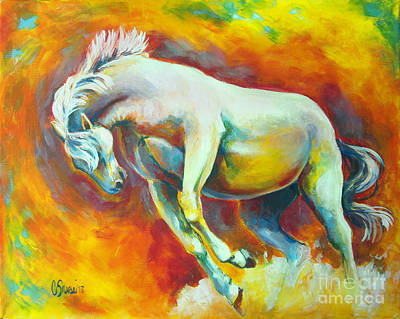 Raging Painting - Horse On Fire by Tamer and Cindy Elsharouni