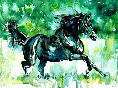 Blck Painting - Horse Painting.42 by Fabrizio Cassetta
