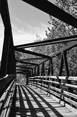 Horse Pen Creek Bridge Black And White Print by Sandi OReilly