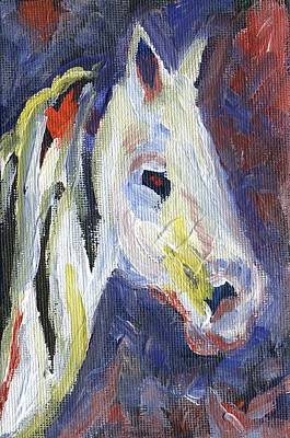Pony Painting - Horse Portrait 105 by Linda Mears