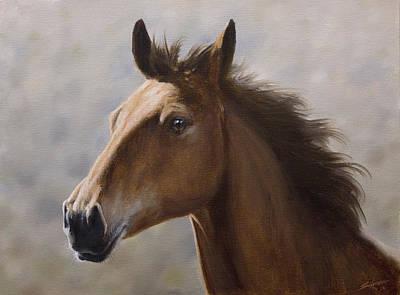 Mist Painting - Horse Portrait IIi by John Silver