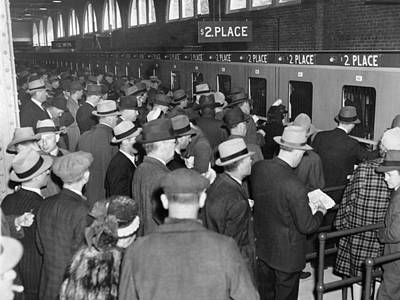Gathered Photograph - Horse Race Betting by Underwood Archives