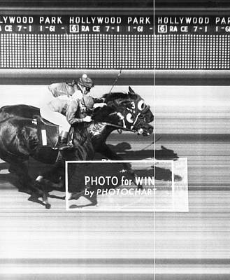 Horse Race Has Photo Finish Print by Underwood Archives