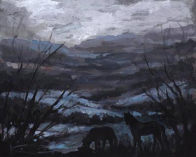 Horse Painting - Horse Ridge by Kim Marshall